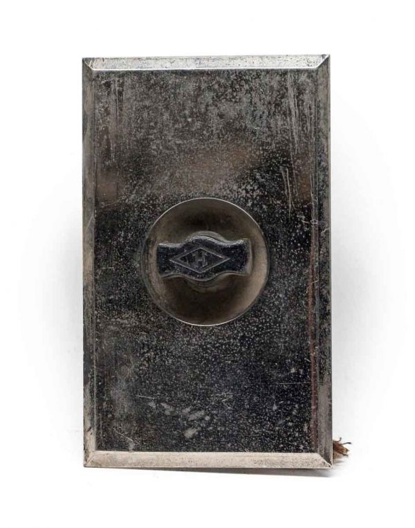 Elevator Hardware - Vintage Chrome Plated Elevator Plate