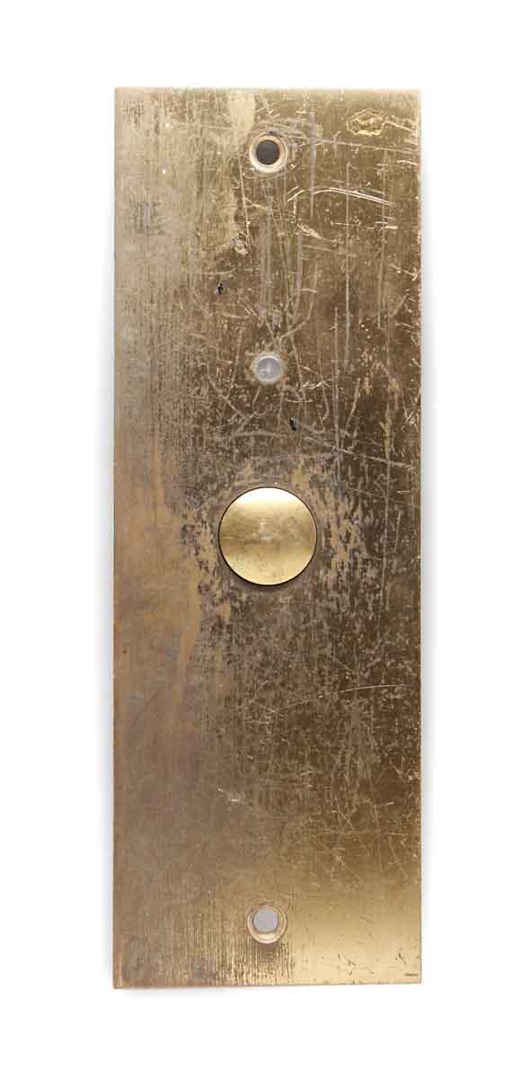 Elevator Hardware - Vintage Classic Brass Elevator Push Plate