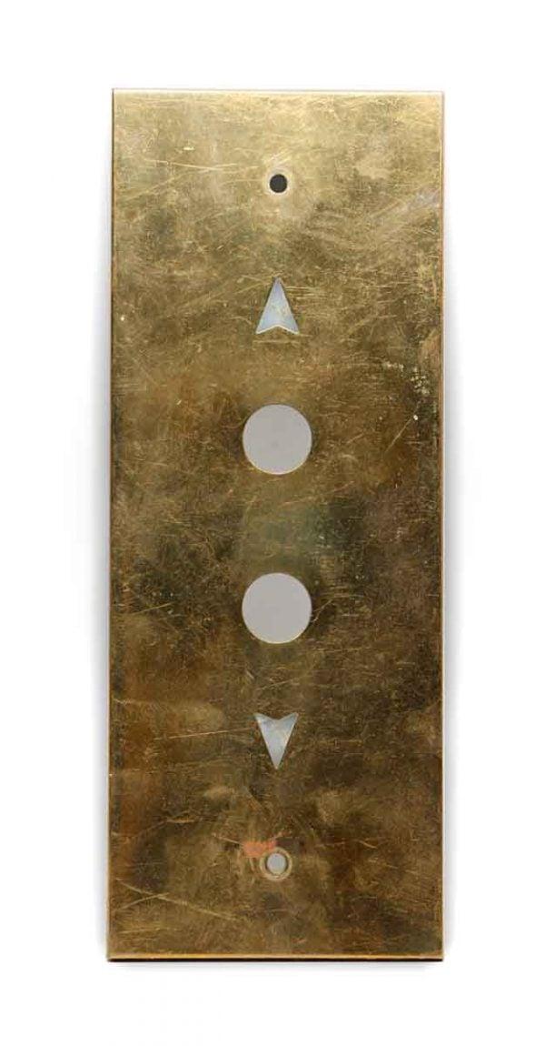 Elevator Hardware - Vintage Polished Brass Elevator Button Plate