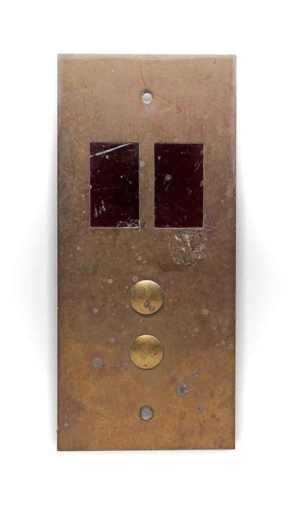 Elevator Hardware - Vintage Polished Brass Elevator Plate