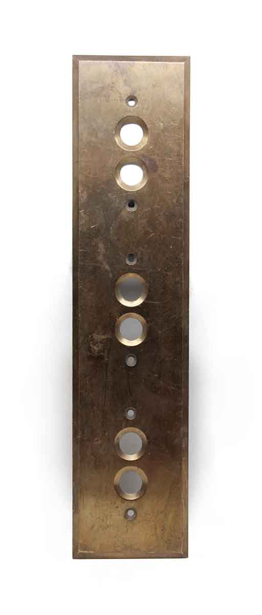 Elevator Hardware - Vintage Six Button Brass Elevator Plate