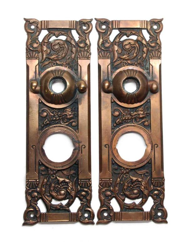 Back Plates - Antique Bronze Columbian Back Plate