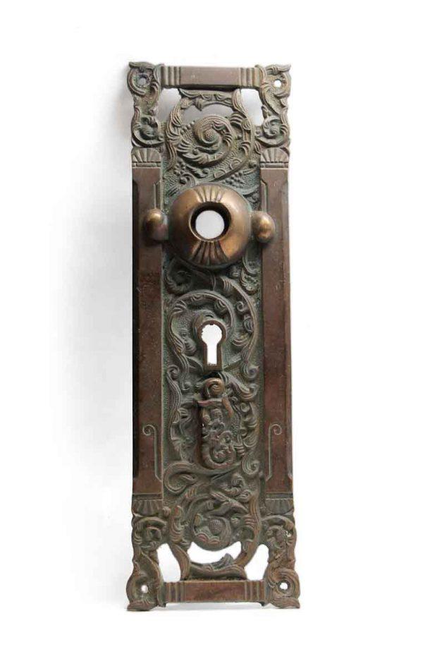 Back Plates - Double Keyhole Bronze Italian Renaissance Columbian Plate