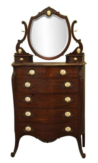 Queen Anne Mahogany Tall Dresser