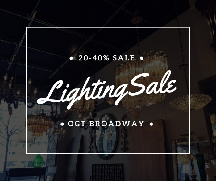 Antique lighting sale in the upper west side olde good things