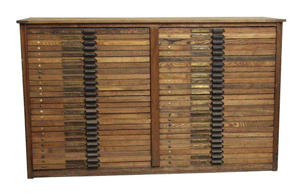 Cabinets - Antique Hamilton Printer's Cabinet