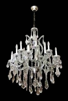 Antique chandeliers olde good things salvaged waldorf large original french crystal chandelier mozeypictures Images