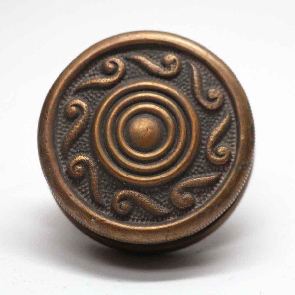 Door Knobs - Antique Concentric Bronze Single Door Knob