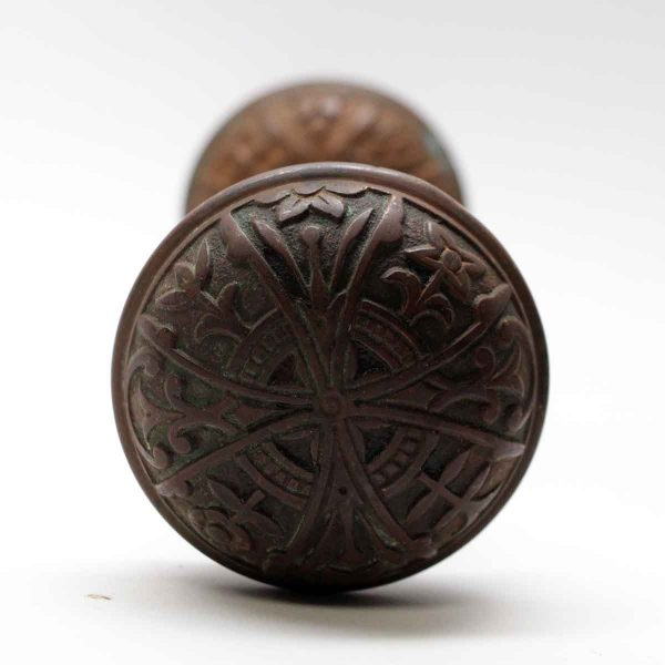 Door Knobs - Antique Lockwood Bronze Aesthetic Entry Door Knob Set