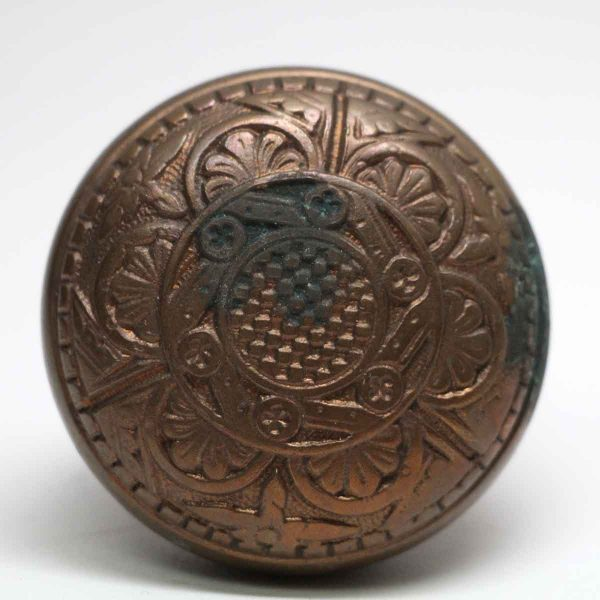 Door Knobs - Antique Norwich 6 Fold Bronze Door Knob