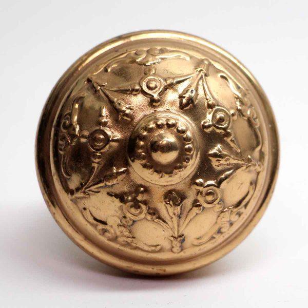 Door Knobs - Antique Reading Polished Brass Five Fold Door Knob