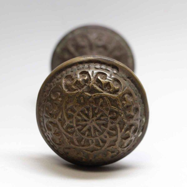 Door Knobs - Antique Russell & Erwin Bronze 8 Fold Classic Door Knob Set
