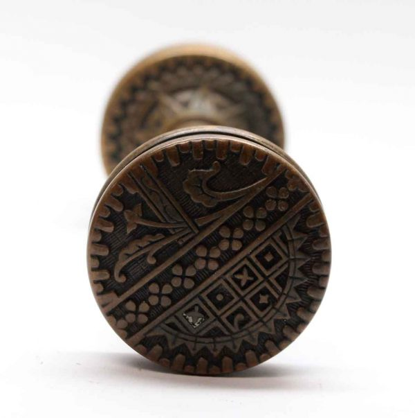 Door Knobs - Antique Sargent Bronze Vernacular Door Knob Set