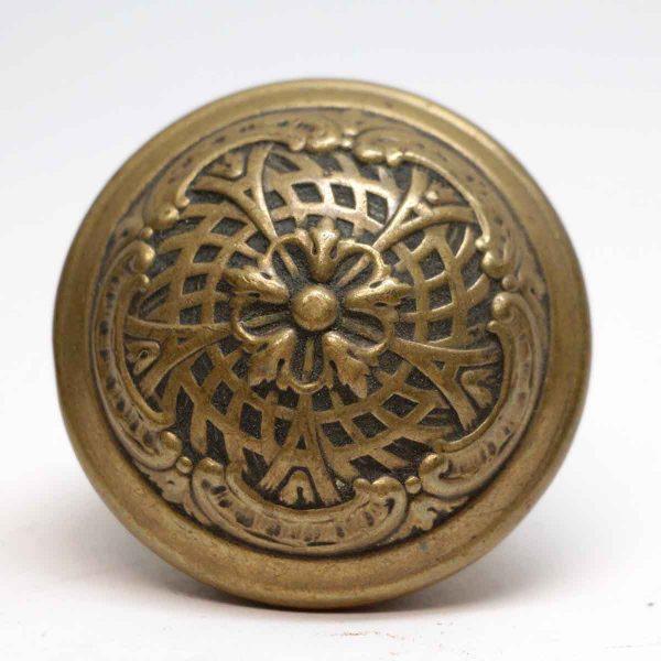 Door Knobs - Antique Yale & Towne Brass 5 Fold Door Knob