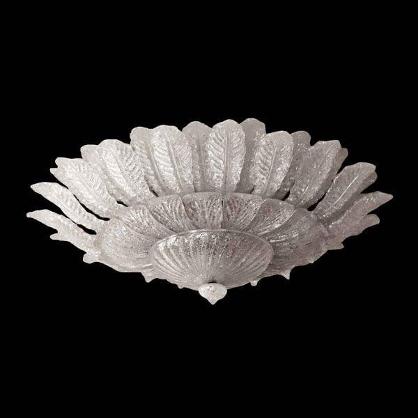 Flush & Semi Flush Mounts - Salvaged Waldorf Barovier & Toso Venetian Glass Fixture