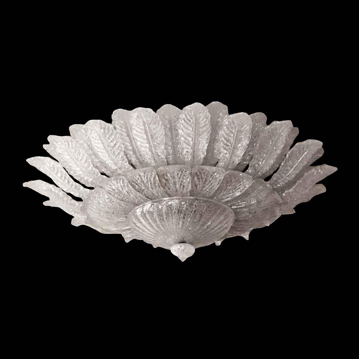 Flush U0026 Semi Flush Mounts   Salvaged Waldorf Barovier U0026 Toso Venetian Glass  Fixture