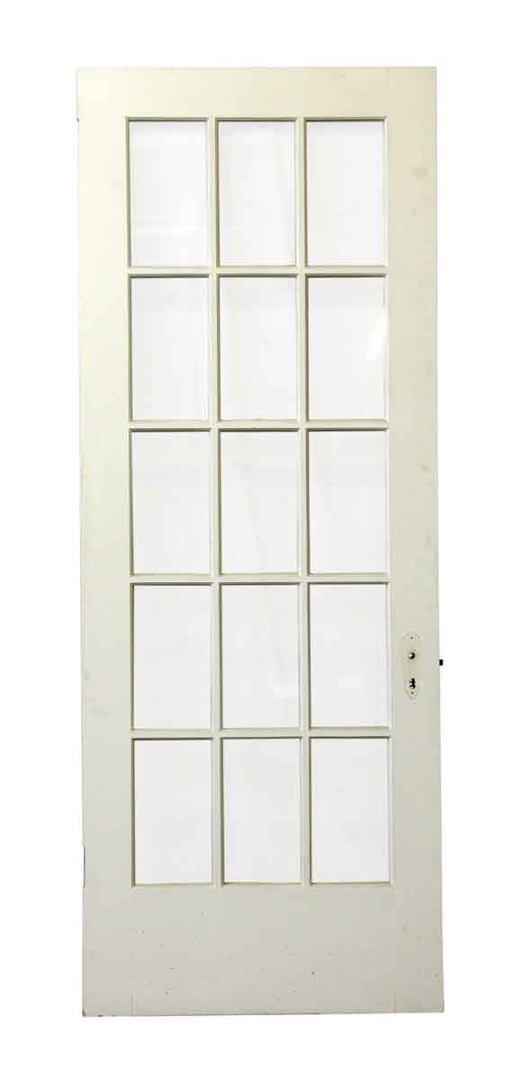 French Doors - Old 15 Panel Wooden White French Door