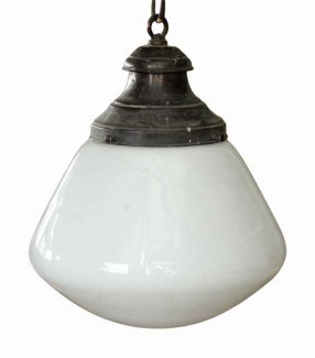 Vintage globes shades olde good things unusual shaped school house light mozeypictures Gallery