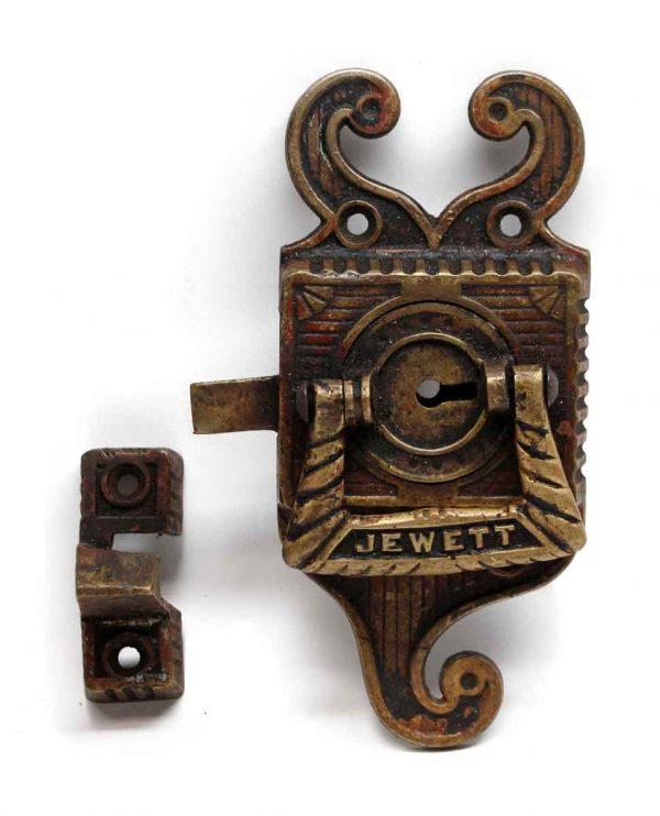 Ice Box Hardware - Antique Jewett Bronze Ice Box Latch