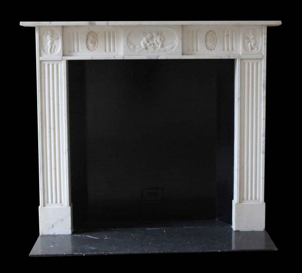 Mantels - Salvaged Waldorf 19th Century English Regency Marble Mantel
