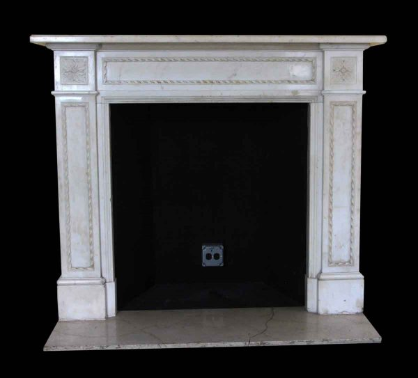 Mantels - Salvaged Waldorf English Regency Calcutta Gold Marble Mantel
