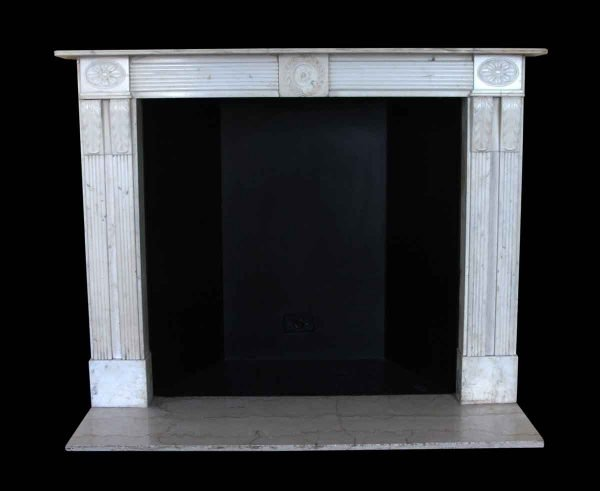 Mantels - Salvaged Waldorf English Regency Statuary Carved Marble Mantel