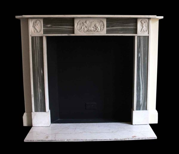 Mantels - Salvaged Waldorf English Regency Statuary Marble Green Mantel
