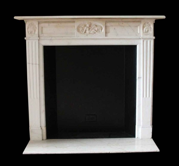 Mantels - Salvaged Waldorf English Regency Statuary Marble Mantel