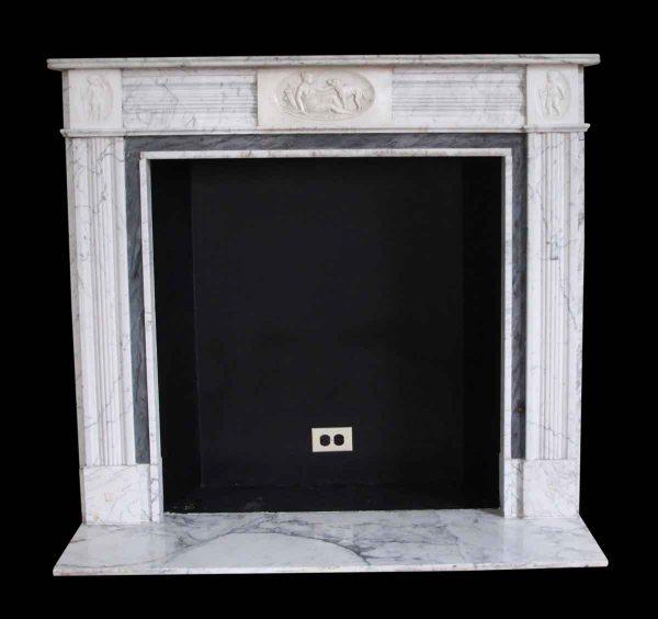 Mantels - Salvaged Waldorf English Regency White Marble Mantel