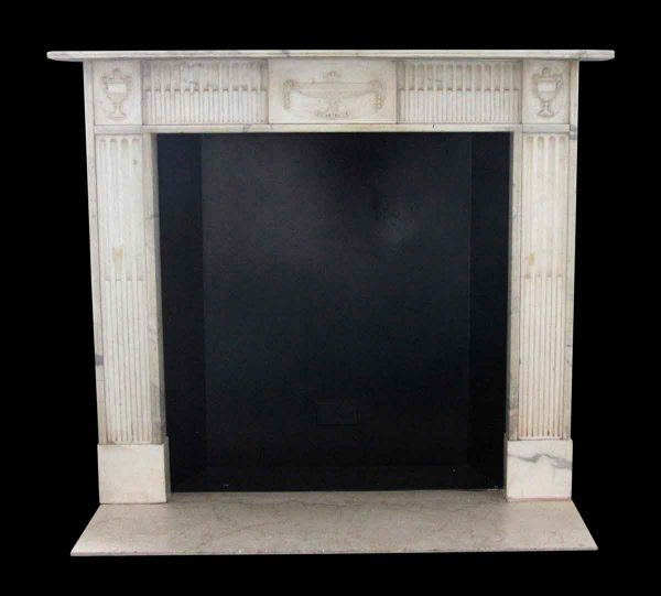 Mantels - Salvaged Waldorf English Regency White Statuary Marble Mantel