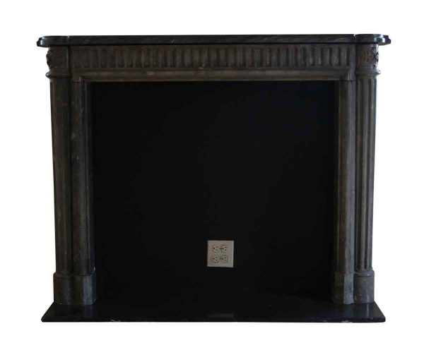 Mantels - Salvaged Waldorf French Louis XVI Style Gray Marble Mantel