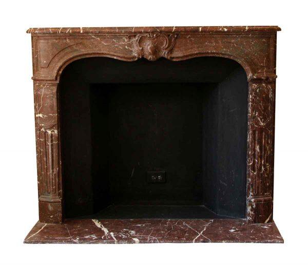 Mantels - Salvaged Waldorf French Regency Louis XVI Burgundy Marble Mantel