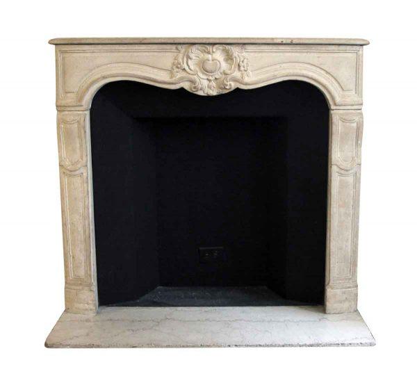 Mantels - Salvaged Waldorf Limestone Louis XV French Fireplace Mantel