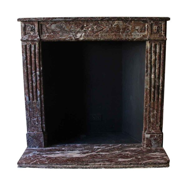 Mantels - Salvaged Waldorf Louis XVI French Regency Carved Marble Mantel