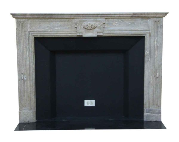 Mantels - Salvaged Waldorf Louis XVI French Regency Gray Marble Mantel