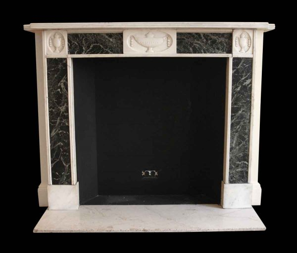 Mantels - Salvaged Waldorf Neoclassical Statuary & Verde Antico Marble