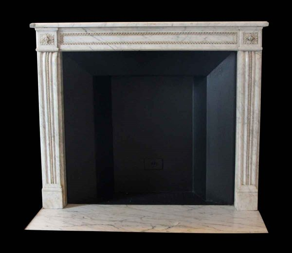 Mantels - Salvaged Waldorf Petite Carrara Marble French Regency Mantel