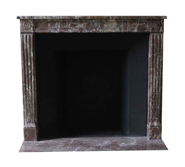 Mantels - Salvaged Waldorf Petite Rouge Royale Marble Mantel