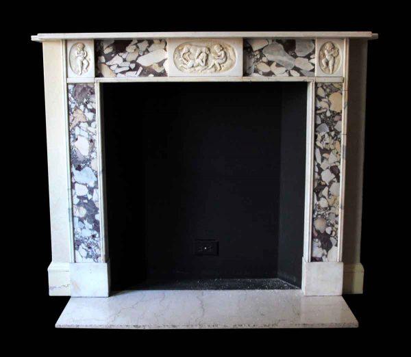 Mantels - Salvaged Waldorf Regency Statuary Marble Mantel