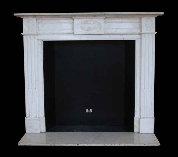 Mantels - Salvaged Waldorf White Statuary & Carrara Marble Mantel