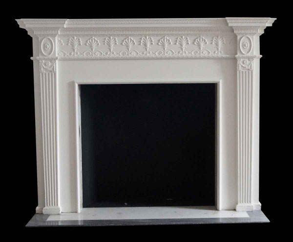 Mantels - Salvaged Waldorf White Wooden Georgian Mantel
