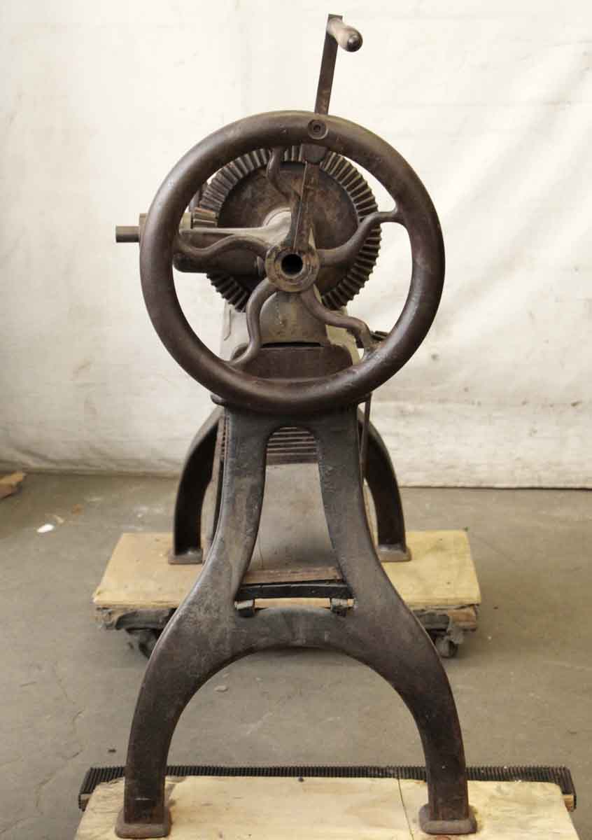 Industrial Lathe On Cast Iron Table Legs Olde Good Things
