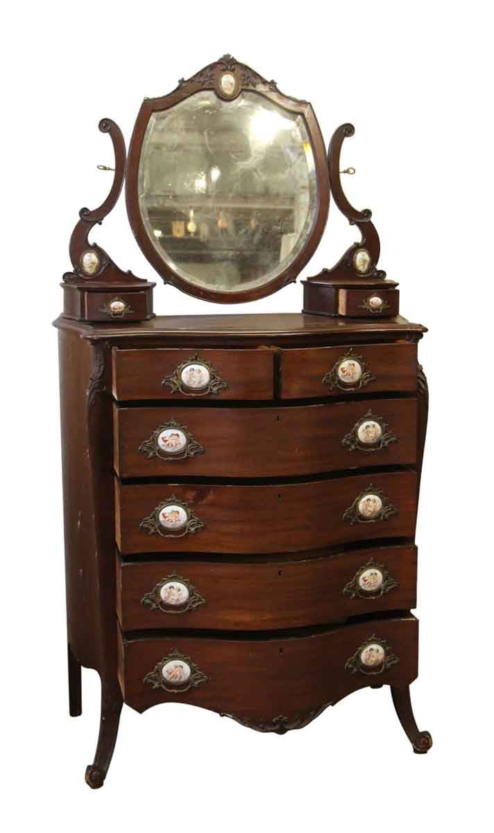 Queen Anne Mahogany Tall Dresser Olde Good Things