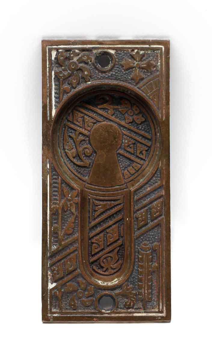 Pocket Door Hardware - Antique Aesthetic Bronze Pocket Door Plate - Antique Aesthetic Bronze Pocket Door Plate Olde Good Things
