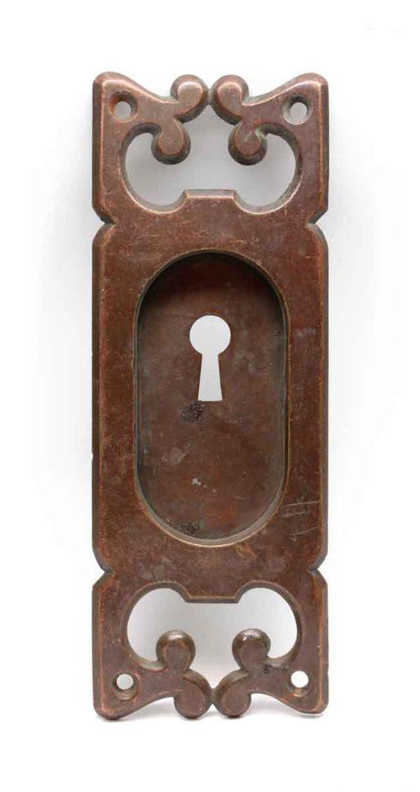 Pocket Door Hardware - Antique Swirl Bronze Pocket Plate