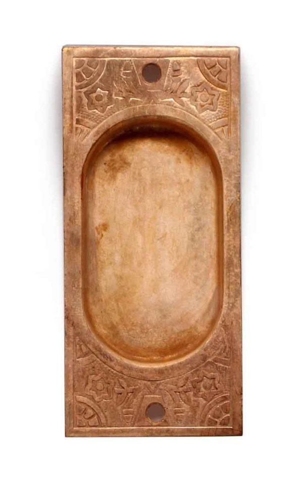 Pocket Door Hardware - Vintage Cooper Over Brass Pocket Door Plate