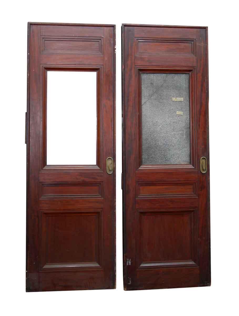 Old pocket door with textured glass panel olde good things pocket doors old pocket door with textured glass panel planetlyrics Gallery