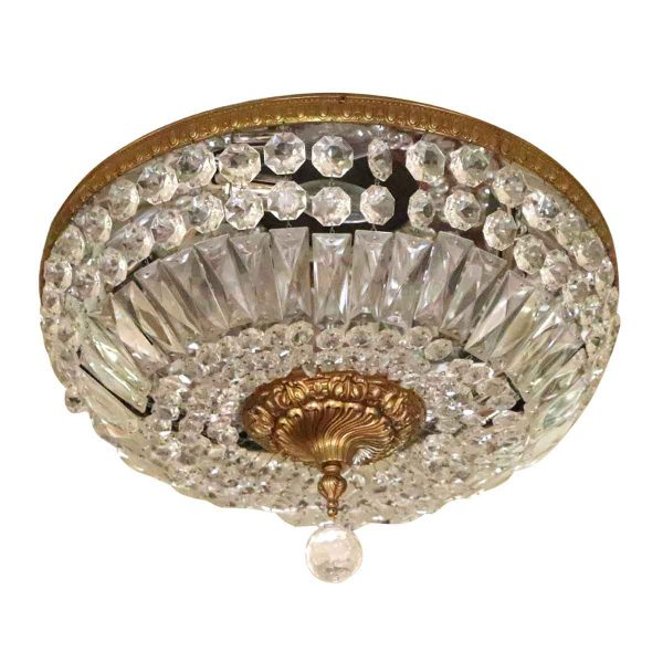 Sconces & Wall Lighting - Salvaged Waldorf Crystal Basket Light Fixture