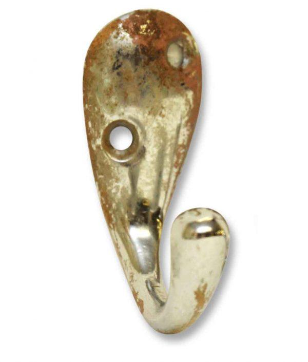 Single Hooks - Small Chrome Over Brass Hook
