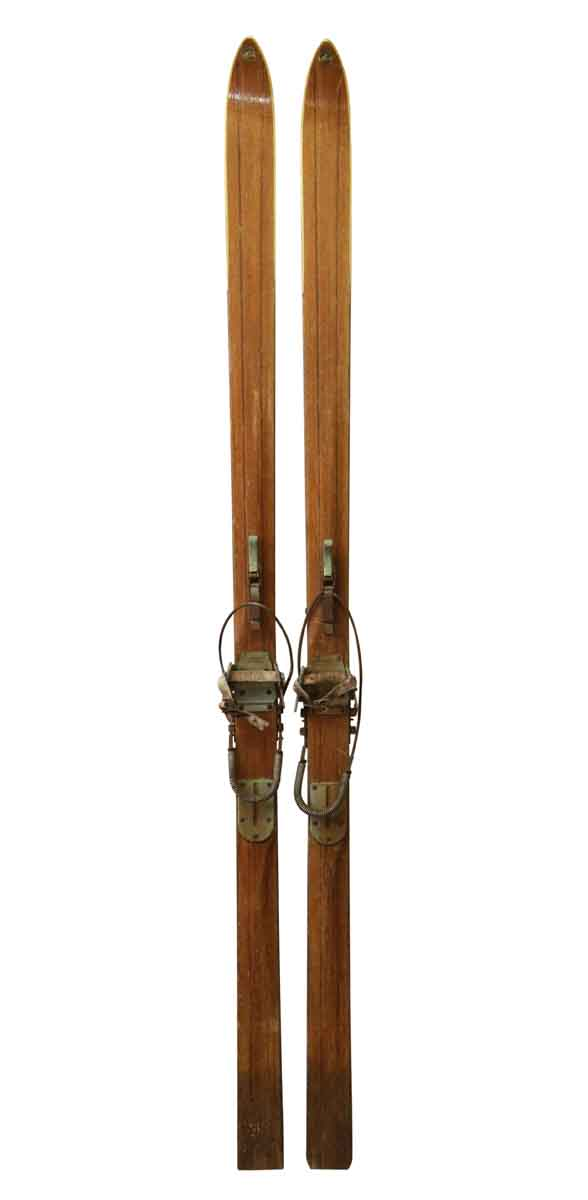 Sporting Goods - Vintage Pair of Inscribed Skis